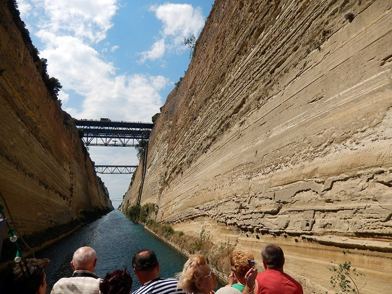Cycle Coastal Road To Europe In Greece Corinth Canal With