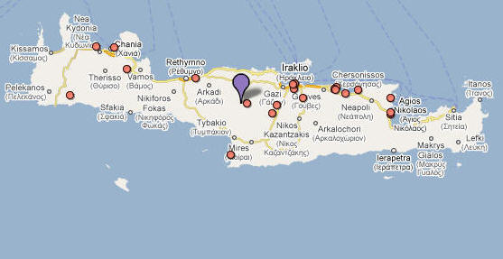 Crete Greek: Κρήτη transliteration: Krētē modern transliteration Kriti Turkish: Girit is the largest and most populous of the Greek islands and the fifth largest island in the Mediterranean Sea at 8 336 km2 3 219 sq mi. Crete is one of the 13 peripheries of Greece and covers the same area as the Greek region of Crete from before the 1987 administrative reform.[1] It forms a significant part of the economy and cultural heritage of Greece; while it retains its own local cultural traits such as its own music and dialect Cretans identify themselves as Greeks. Heraklion is the largest city and capital of Crete. Crete was the center of the Minoan civilization circa 2700–1420 BCE the first advanced civilization in Greece and Europe.