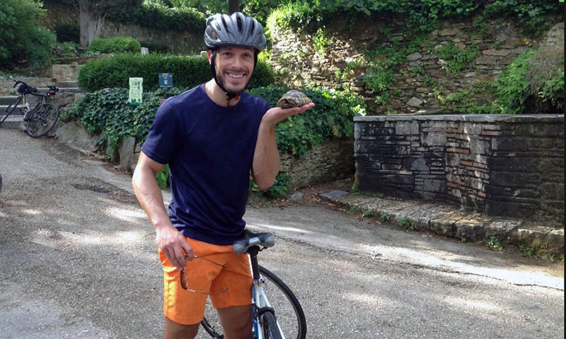 Cycling in Hymettos